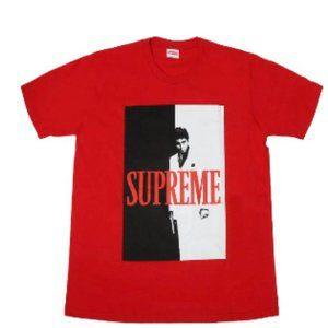 Supreme Scarface Split Red Tee Shirt